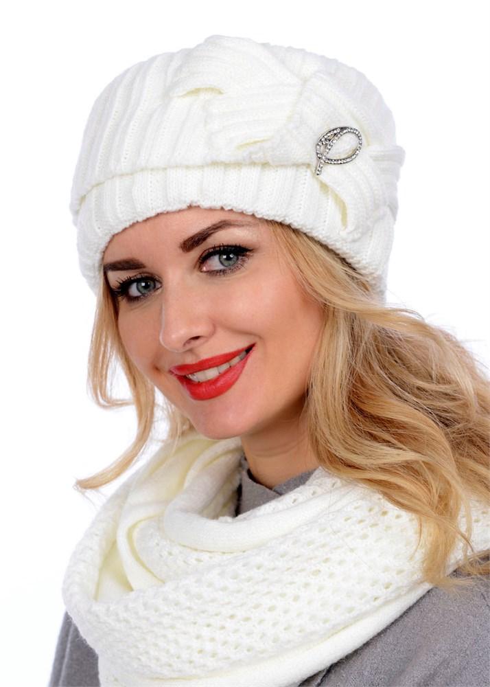 купить вязаную шапку кубанку тд 405 молочный