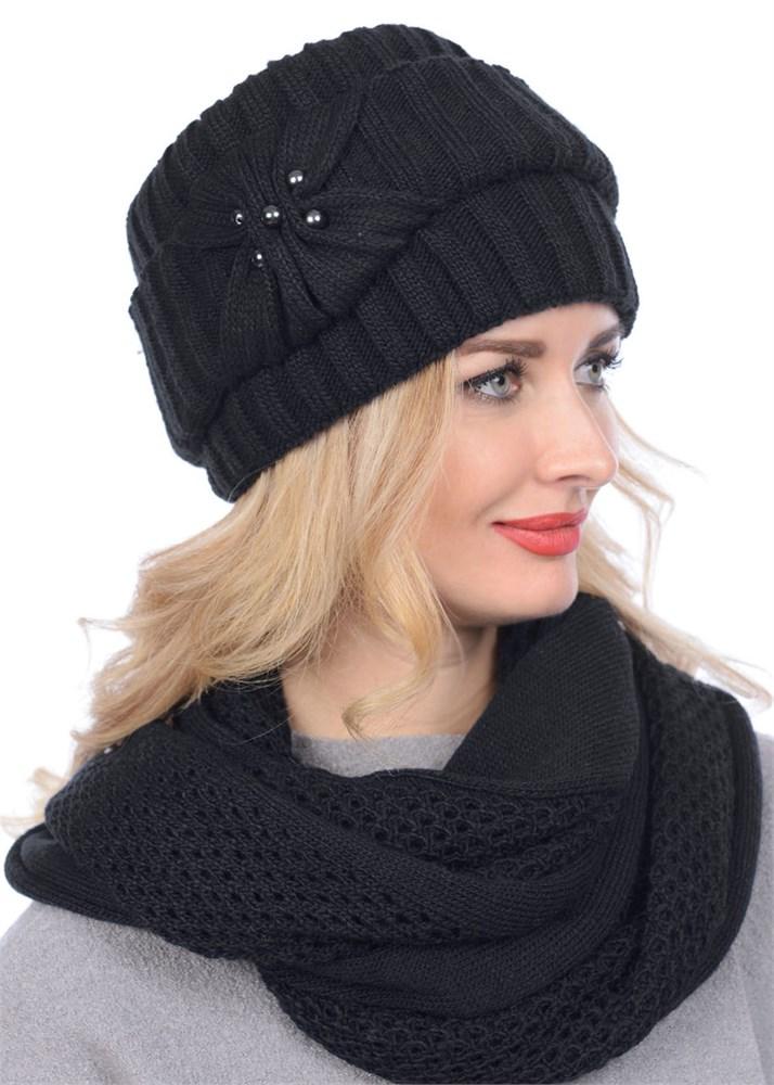 купить вязаную шапку кубанку тд 404 черную