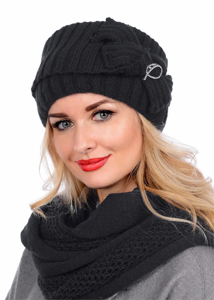 купить вязаную шапку кубанку тд 405 черный