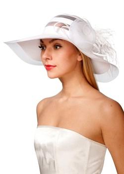 Летняя широкополая шляпа Л-223 белая - фото 10050