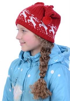 Новогодняя шапка ТД-72 красная - фото 10850