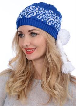 "Новогодняя шапка ТД-202 ""Снегурочка"" синяя - фото 10930"