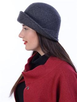 Шляпа Д-463/4 антрацитовая-темно-серая - фото 10972
