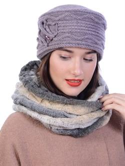 Вязаная шапка-кубанка ТД-432 - фото 10978