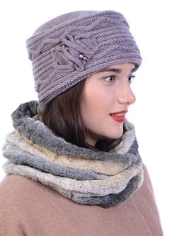 Вязаная шапка-кубанка ТД-432 - фото 10979