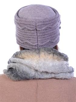 Вязаная шапка-кубанка ТД-432 - фото 10980