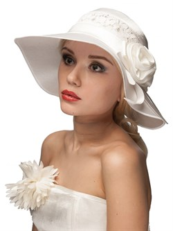 Летняя классическая широкополая шляпа Л-246 белая - фото 11219