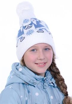 Новогодняя шапка ТД-226/2 голубая - фото 11391