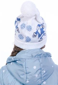Новогодняя шапка ТД-226/2 голубая - фото 11392