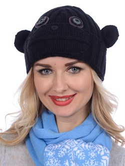 Вязаная шапка ТД-397 черная - фото 12185