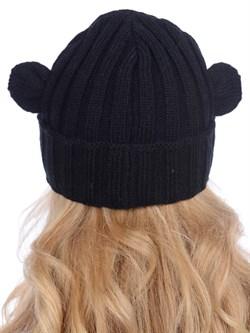 Вязаная шапка ТД-397 черная - фото 12186