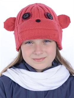 Вязаная шапка ТД-397 коралловая - фото 12191