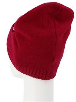 Вязаная шапка ТД-396 красная - фото 12197