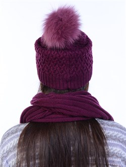 Вязаная шапка ТД-446 - фото 12437