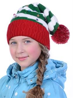 Новогодняя шапка ТД-137 мультиколор - фото 12515