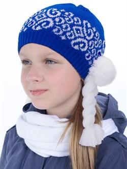"Новогодняя шапка ТД-202 ""Снегурочка"" синяя - фото 12527"