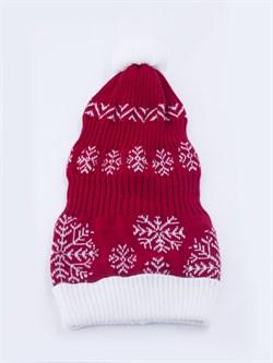 Новогодняя шапка ТД-16/2 красная - фото 12531