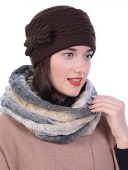 Вязаная шапка-кубанка ТД-434 - фото 13673