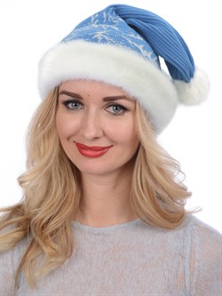 Новогодняя шапка ТД-16/1 голубая - фото 15423