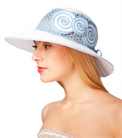 Шляпа летняя Л-205-2 бело-голубой