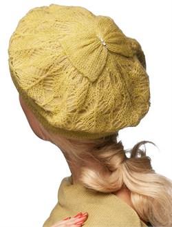 Комплект шапка и шарф ТД-313 горчица 2