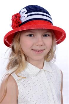 Шляпка детская летняя Дети/Л33 красный-синий-белый