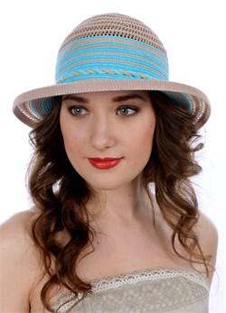 Шляпа летняя ТЛ-277 бежевый/бирюза