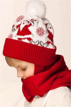 Новогодняя шапочка детская Дети-42 красная