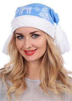 Новогодняя шапка ТД-227 голубая