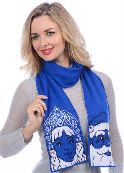 Шарф новогодний ТД-207А синий Сиринга-стиль