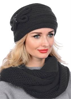 Вязаная шапка-кубанка ТД-406 черная Сиринга-стиль