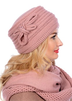 Вязаная шапка-кубанка ТД-406 бледно-розовая Сиринга-стиль  2