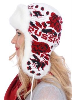 Ушанка женская З-281-11 красная Сиринга-стиль
