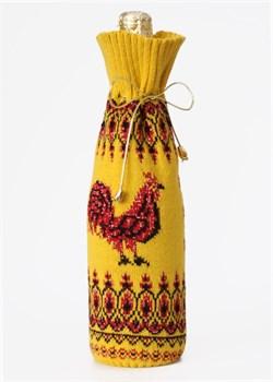 """Подарочный чехол на бутылку ТД-414/11 """"Петух"""" Сиринга-стиль"""