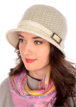 Женская шляпка Д-432/2 кофе с молоком Сиринга-стиль