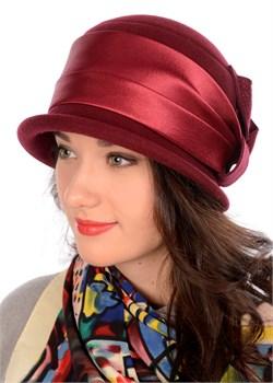 Классическая женская шляпа Д-263 вино Сиринга-стиль