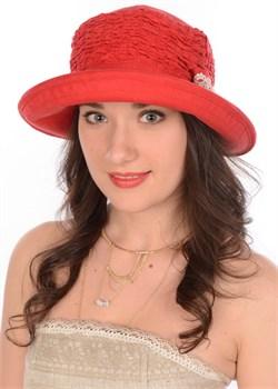 Шляпа летняя Л-265/1 красная 1