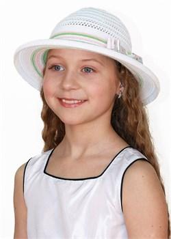 Шляпка детская летняя Дети/ТЛ36 белый-салатовый-розовый Сиринга-стиль 1