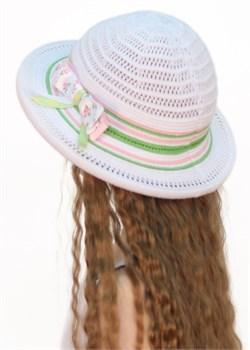 Шляпка детская летняя Дети/ТЛ36 белый-салатовый-розовый Сиринга-стиль 2
