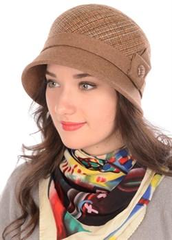 Шляпа Д-562/1А бежево-коричневая/светло-коричневая - фото 7942