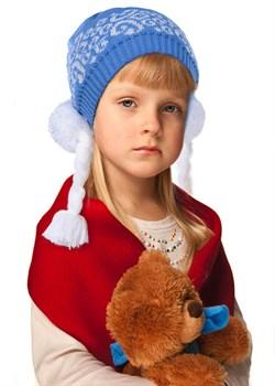 """Новогодняя шапка ТД-202 """"Снегурочка"""" голубая - фото 8519"""