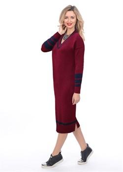 Платье ВТД-04 бордо - фото 8890