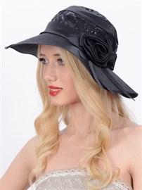 Летняя классическая широкополая шляпа Л-246 черная