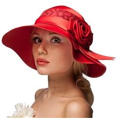 Шляпа летняя Л-246 красный 1
