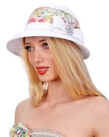 Шляпа летняя Л-271 букеты 1