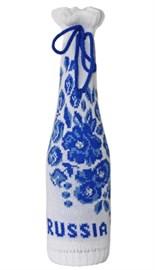 Сувенир новогодний ТД-322 чехол для шампанского Гжель