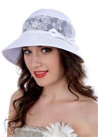 Белая летняя шляпа Л-280