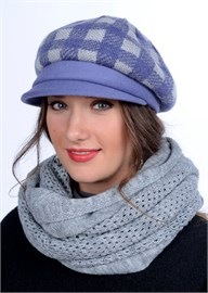 Женская трикотажная кепка Д-470/2 клематис от Сиринга-стиль