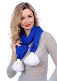 Новогодний шарф ТД-217-1А синий Сиринга-стиль