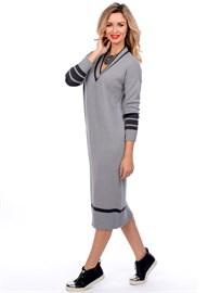 Платье ВТД-04 серое Сиринга-стиль